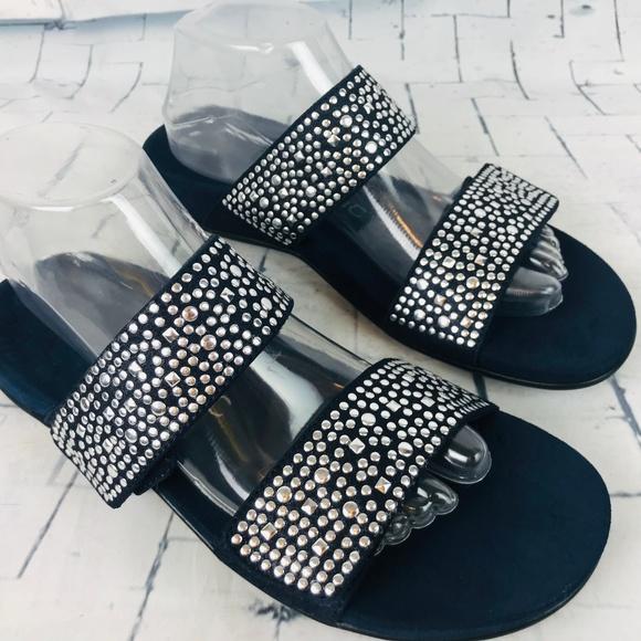 Samoa Navy Blue Slip On Slide Sandals